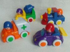 Adorable My 1st Set of Baby Push Along Chunky Cars Playset